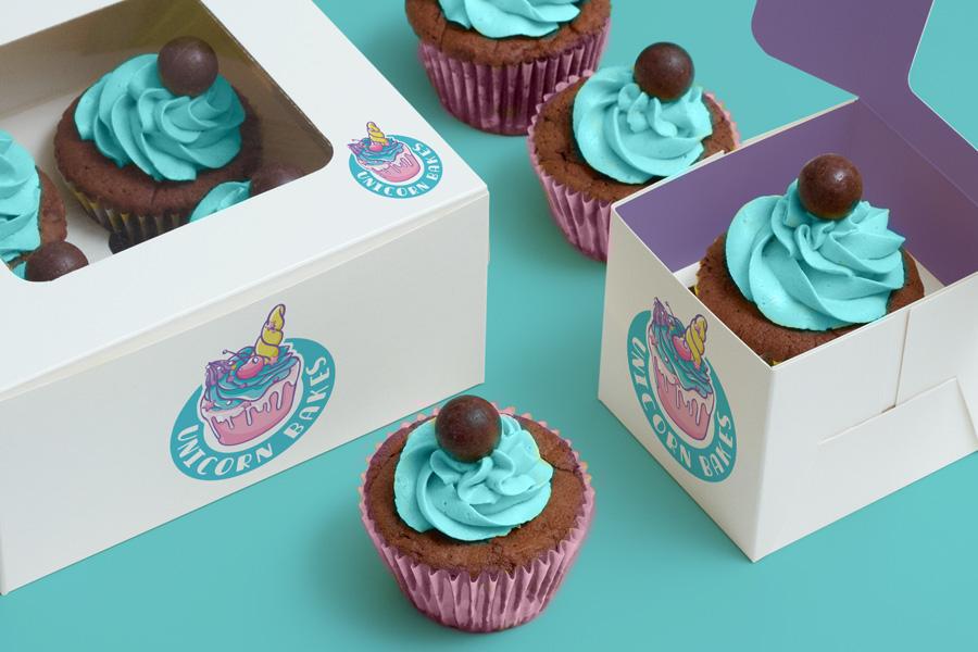 Unicorn Bakes Cupcake Box