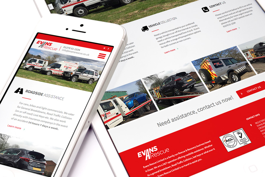 Evans Rescue Website